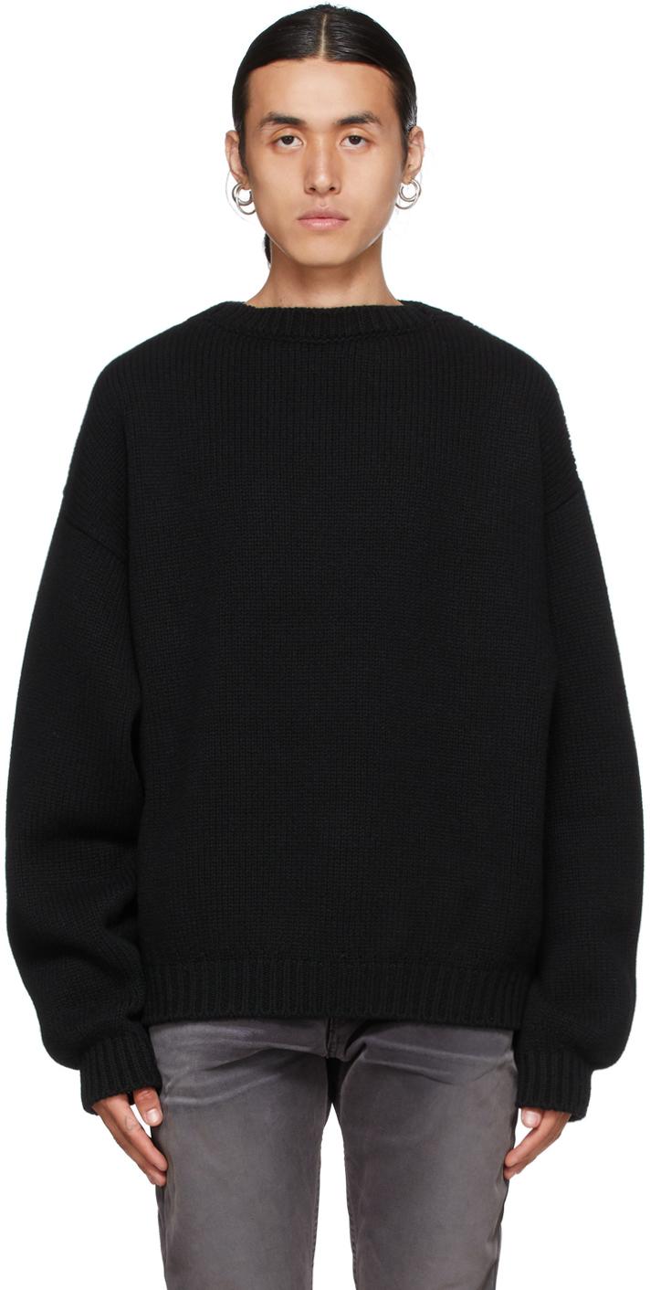 Black Overlapped Sweater