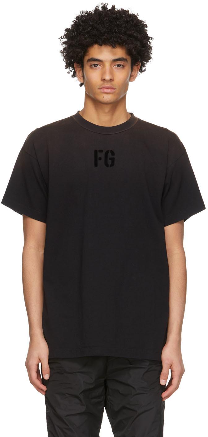 Black 'FG' T-Shirt