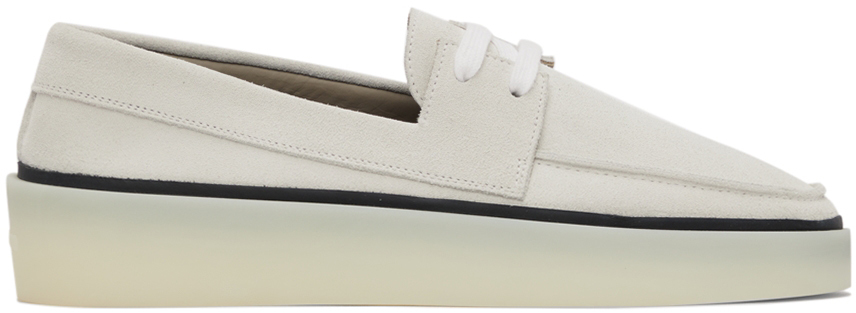 Off-White Suede Boat Shoes