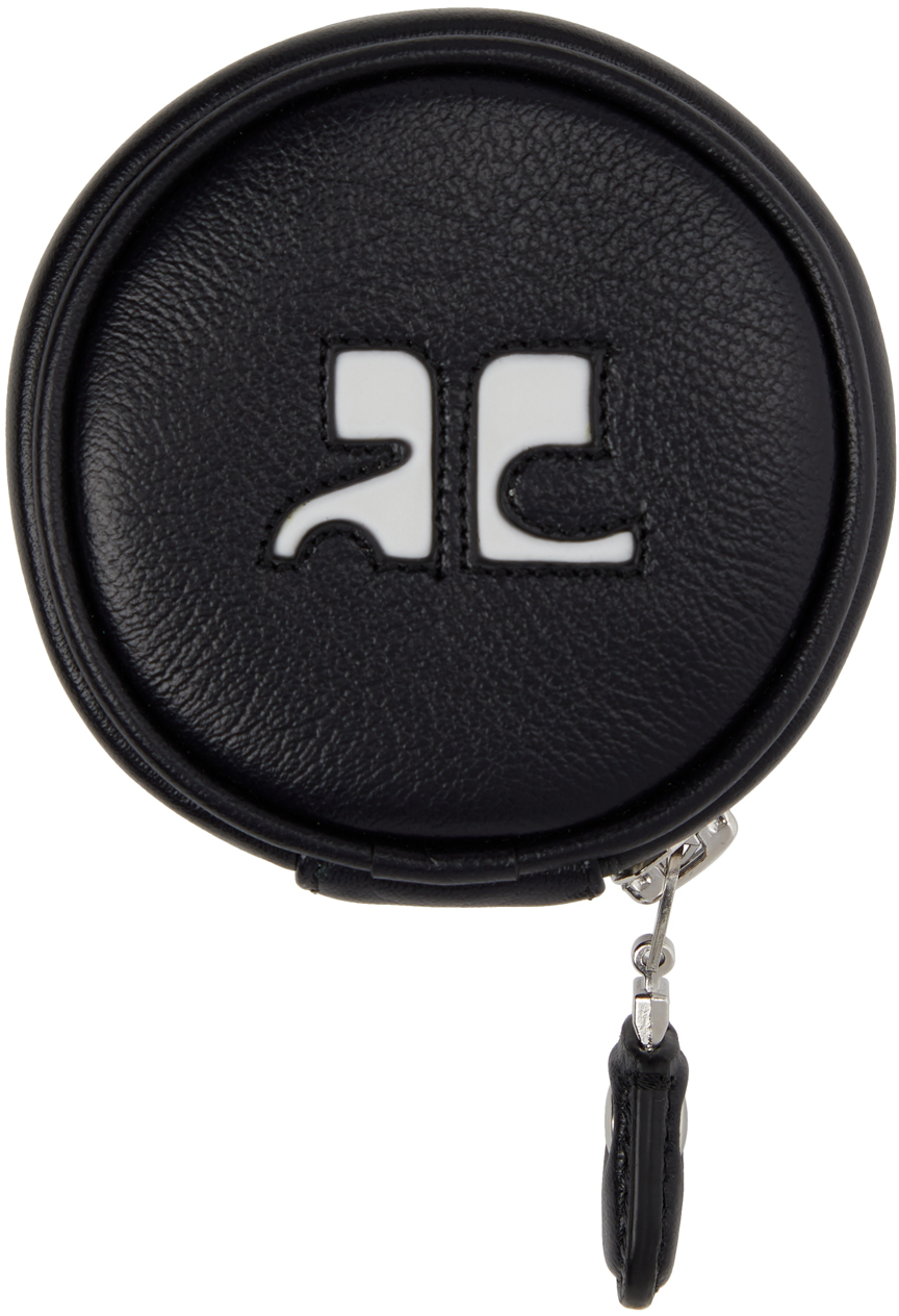 Black Leather Coin Pouch