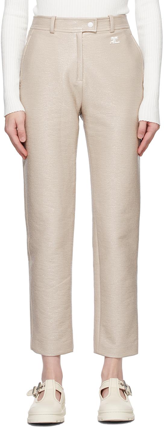 Grey Vinyl Trousers