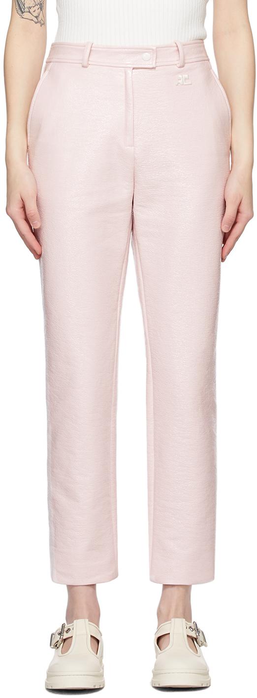 Pink Vinyl Trousers