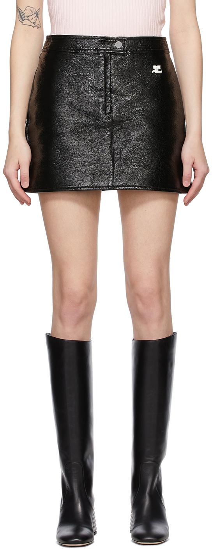 Courrèges 黑色徽标短裙