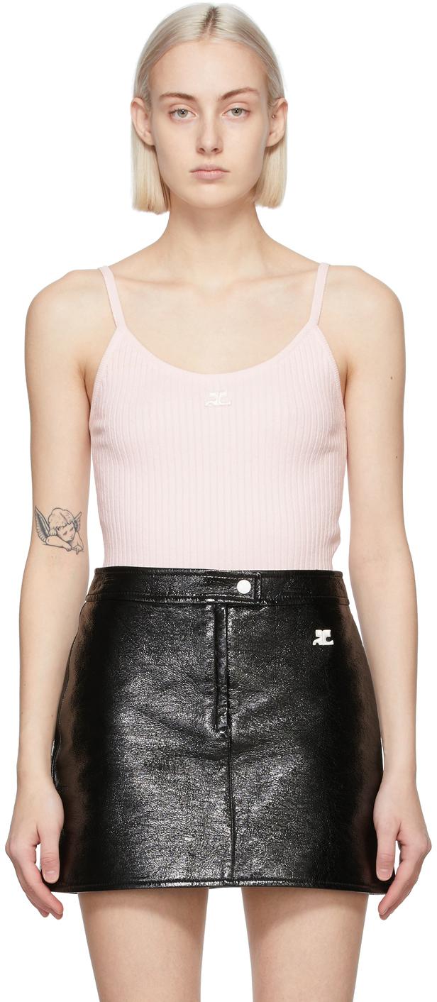 Pink Rib Knit Tank Top