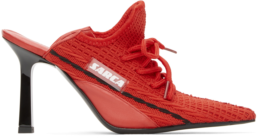 Red R1 Sneaker Mules