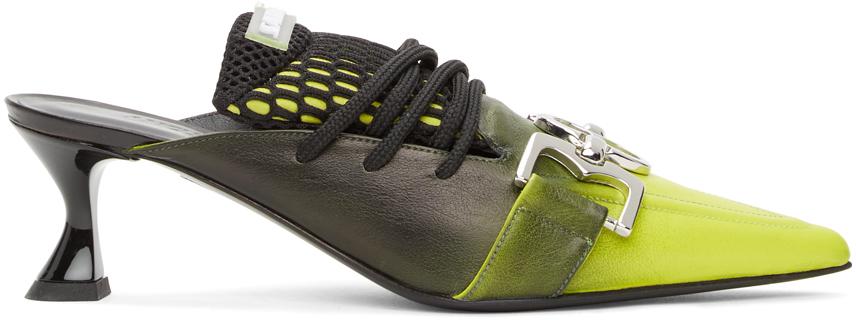 Ancuta Sarca Black & Green T4 Kitten Heels