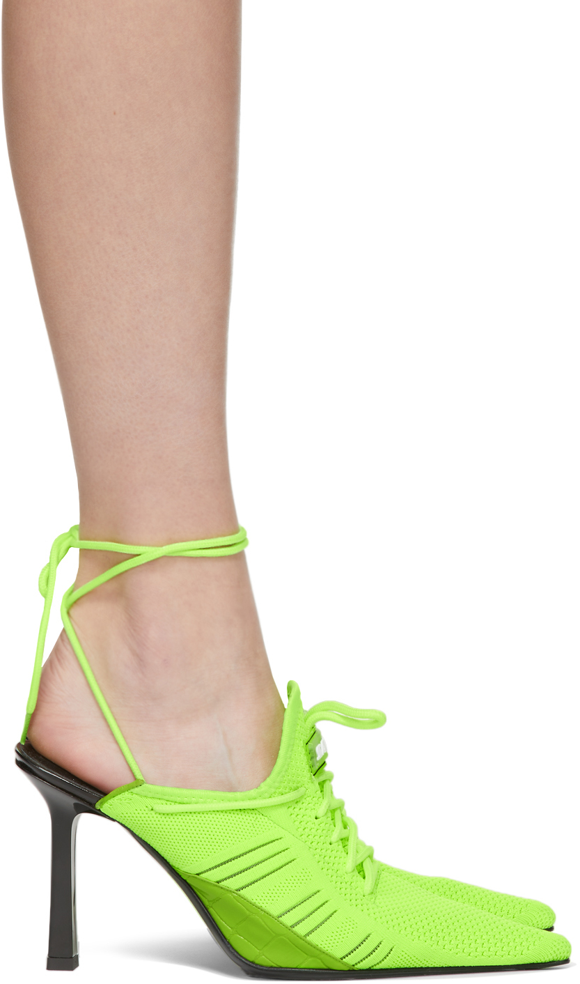 Ancuta Sarca SSENSE Exclusive Green R1 Sneaker Mules