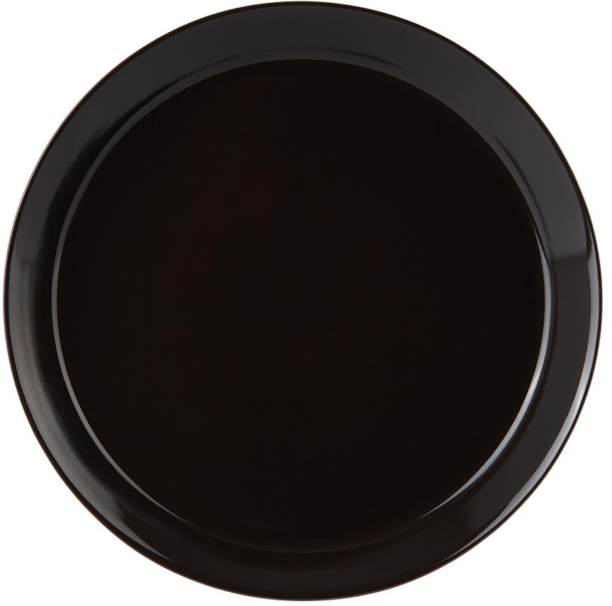 Black Alessi Edition Tonale Dinner Plate