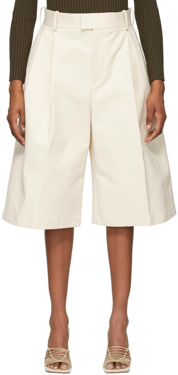 Bottega Veneta 灰白色阔腿短裤