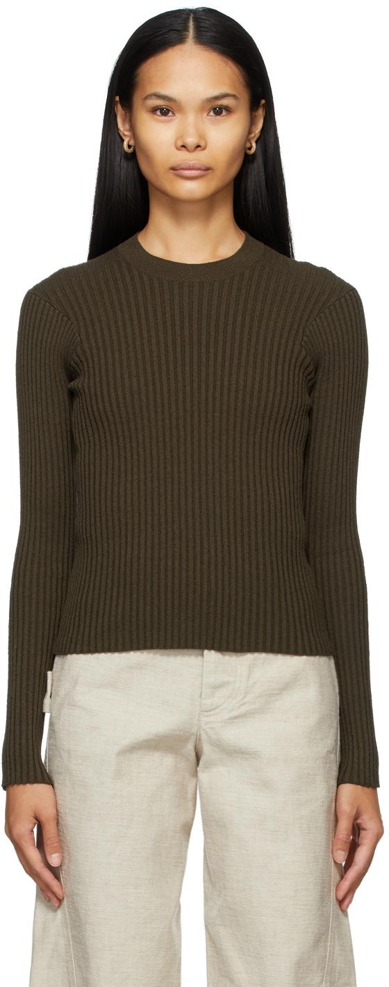Bottega Veneta 军绿色罗纹针织衫