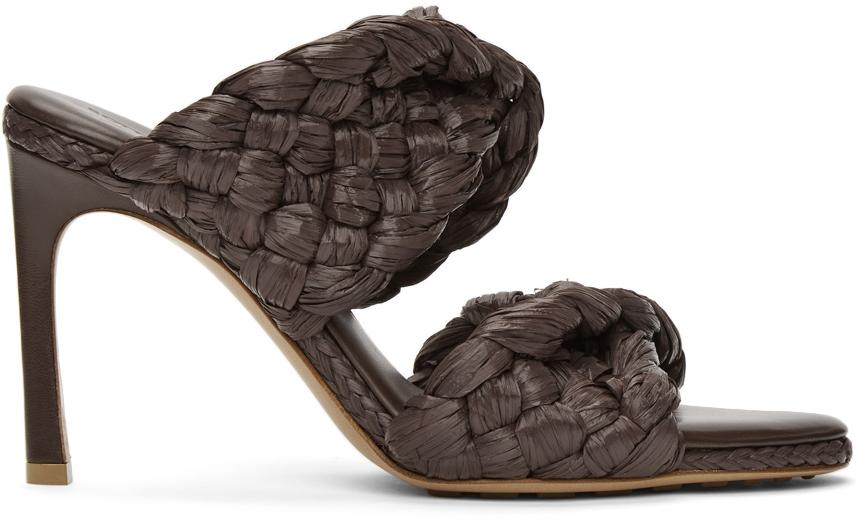 Bottega Veneta 棕色 The Curve 凉鞋