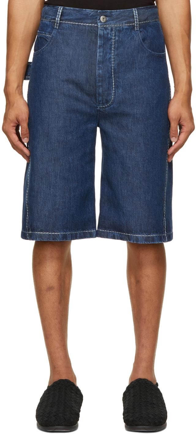 Bottega Veneta 蓝色 Fluid 短裤