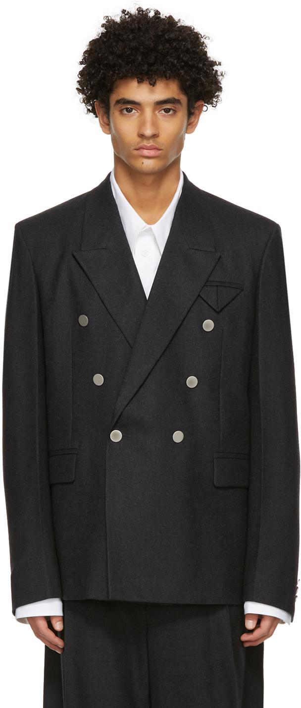 Bottega Veneta 灰色羊毛西装外套