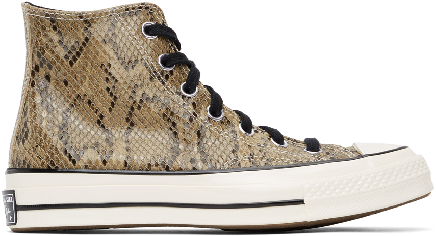 Brown Snake Chuck 70 High Sneakers