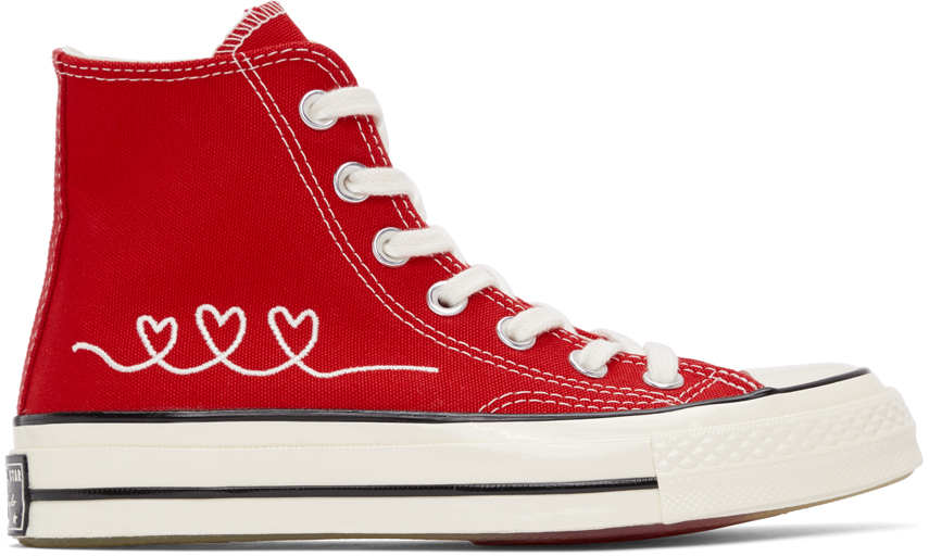 Red 'Love' Chuck 70 High Sneakers
