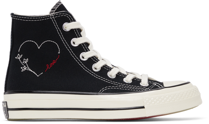Black 'Love' Chuck 70 High Sneakers