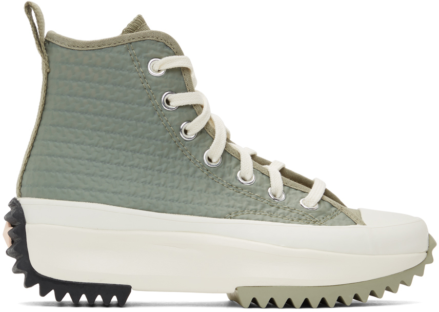 Khaki Run Star Hike Hi Sneakers