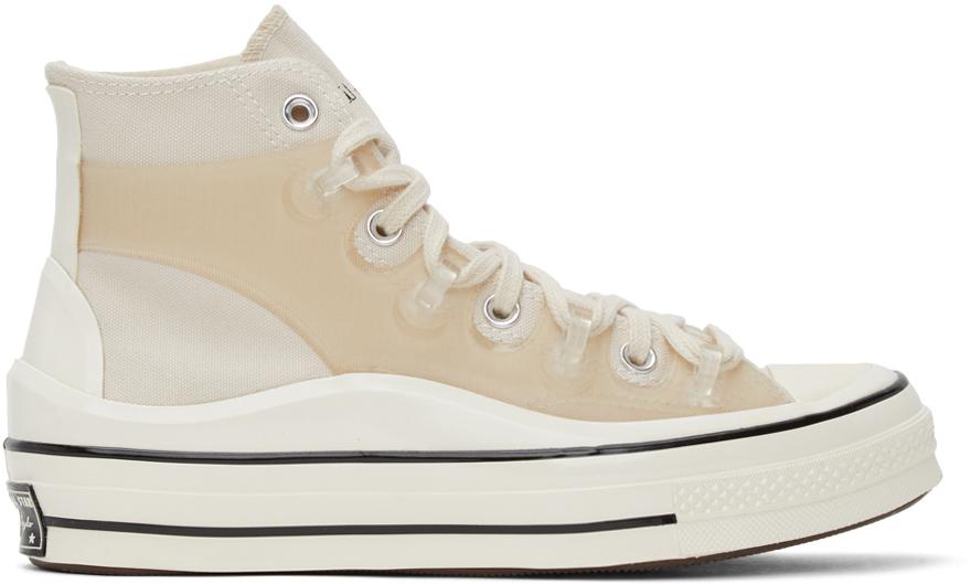 converse beige platform