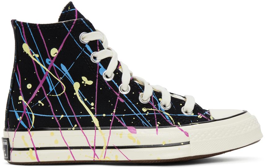 Black Archive Paint Splatter Chuck 70 High Sneakers