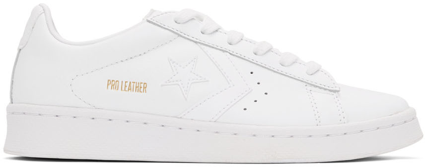 White 'Pro Leather' OX Sneakers