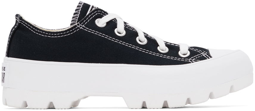 Black Lugged Chuck Taylor All Star Low Sneakers