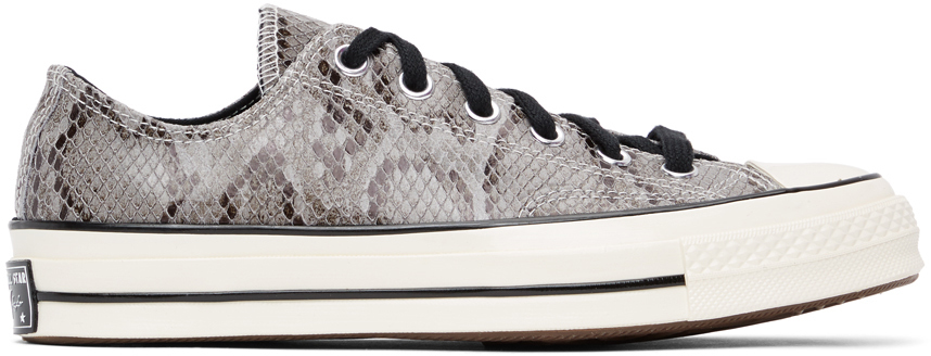 Grey Snake Chuck 70 Ox Low Sneakers