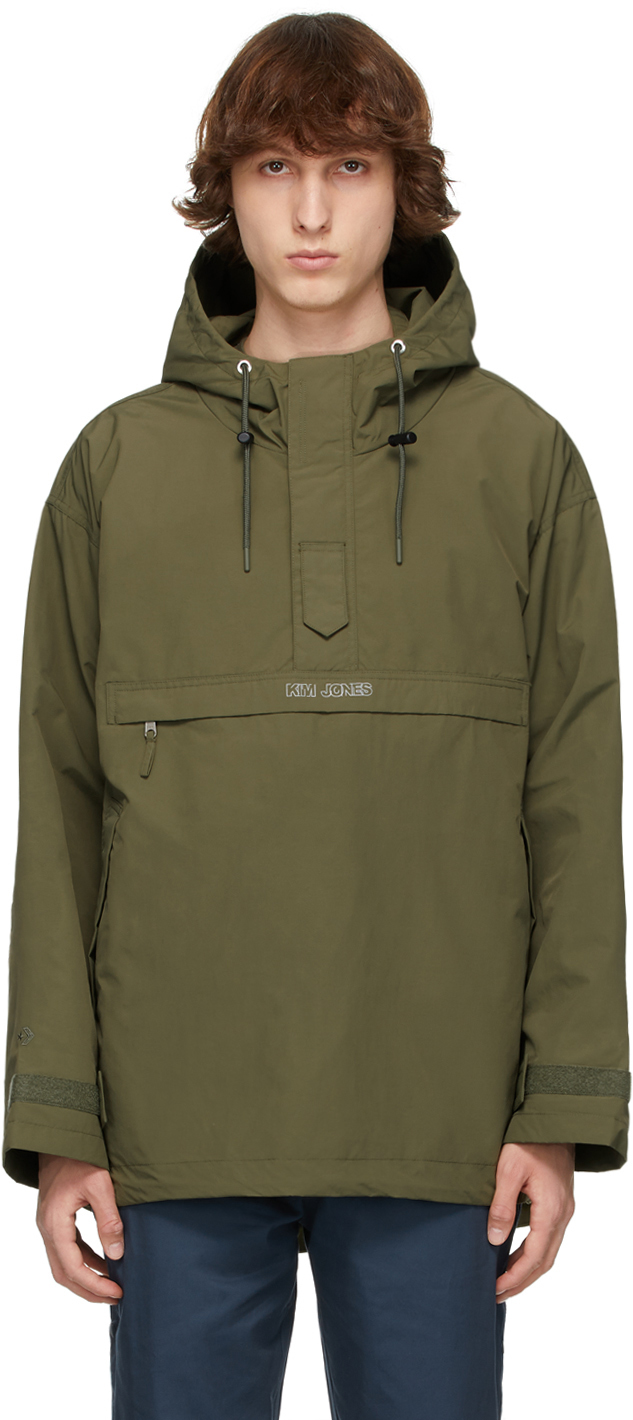 Khaki Kim Jones Edition Half-Zip Parka