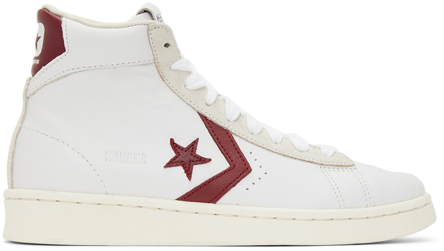 Converse 白色 Pro Leather OG 高帮运动鞋