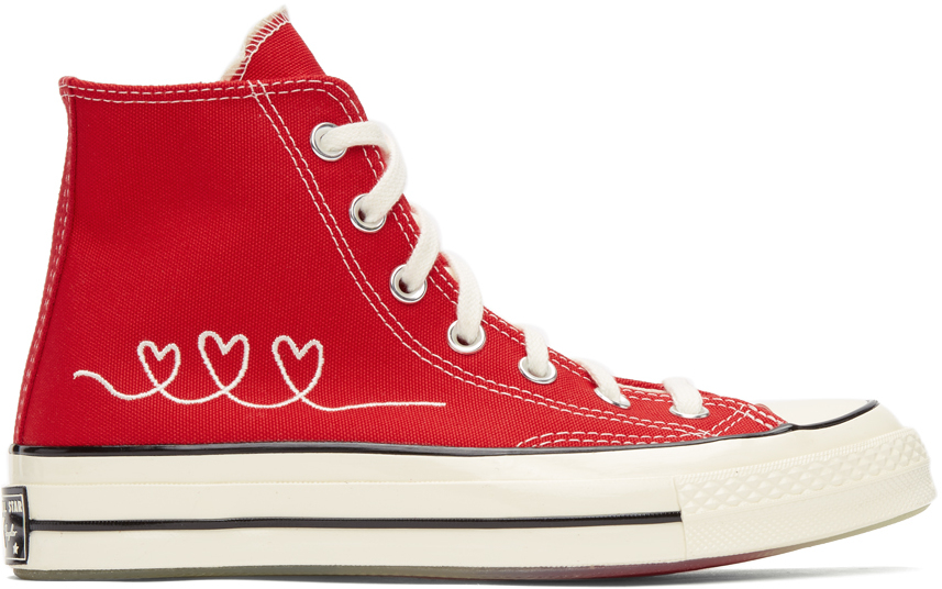 Red Valentine's Day Chuck 70 High Sneakers