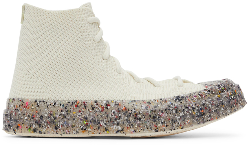 White Renew Chuck 70 Knit High Top Sneakers