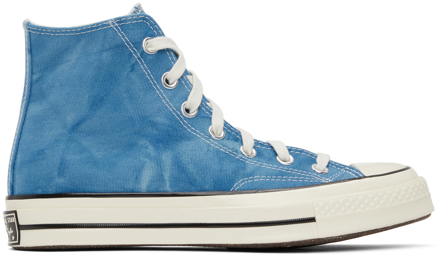 Baskets montantes Chuck 70 bleues à effet délavé
