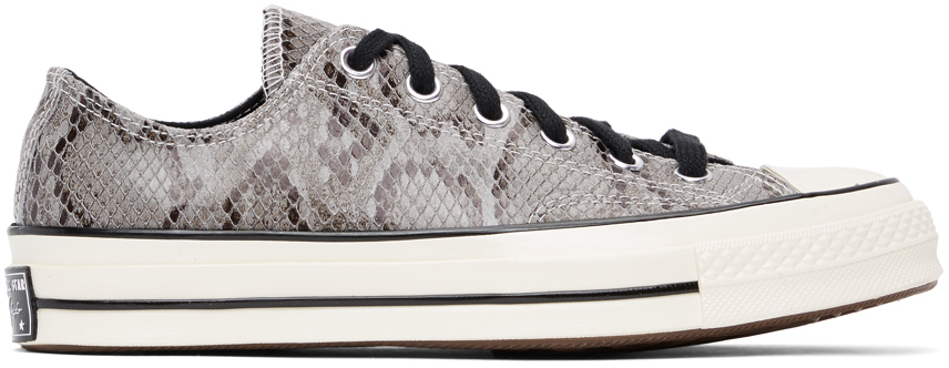 Grey Snake Chuck 70 Ox Sneakers