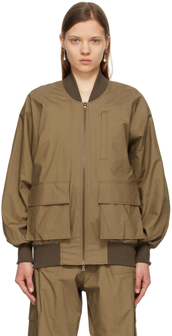 Brown Ziggy Bomber Jacket