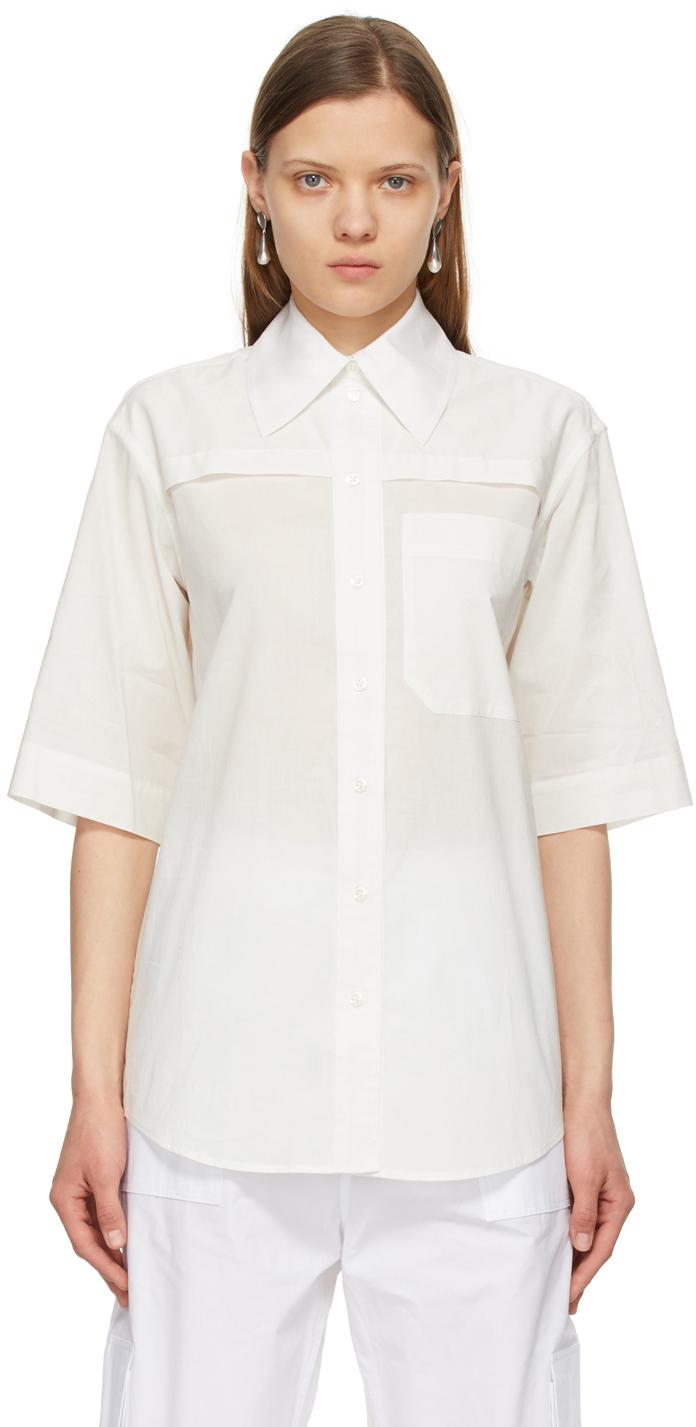 Off-White Batiste Short Sleeve Shirt