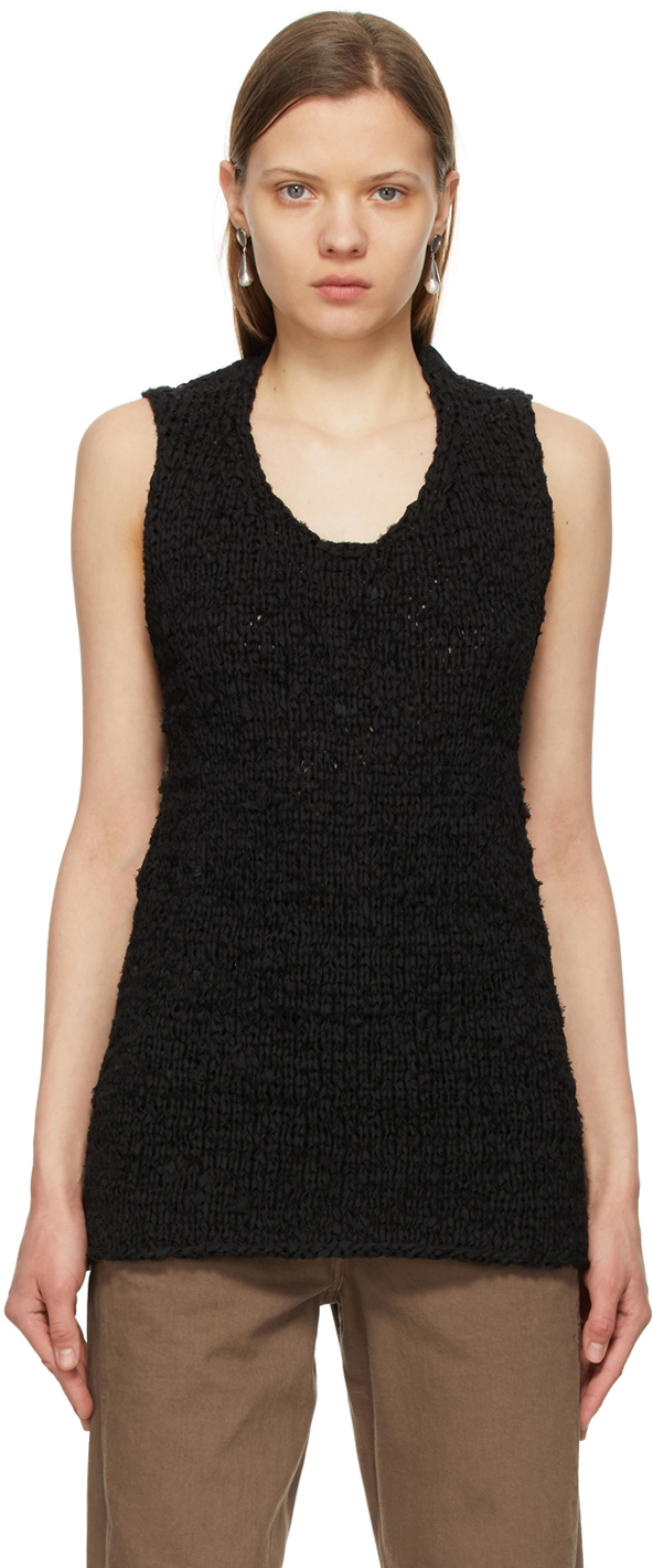 Black Recycled Zio Tank Top