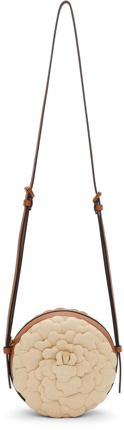 Valentino Garavani Brown & Beige 03 Rose Edition Atelier Round Crossbody Bag