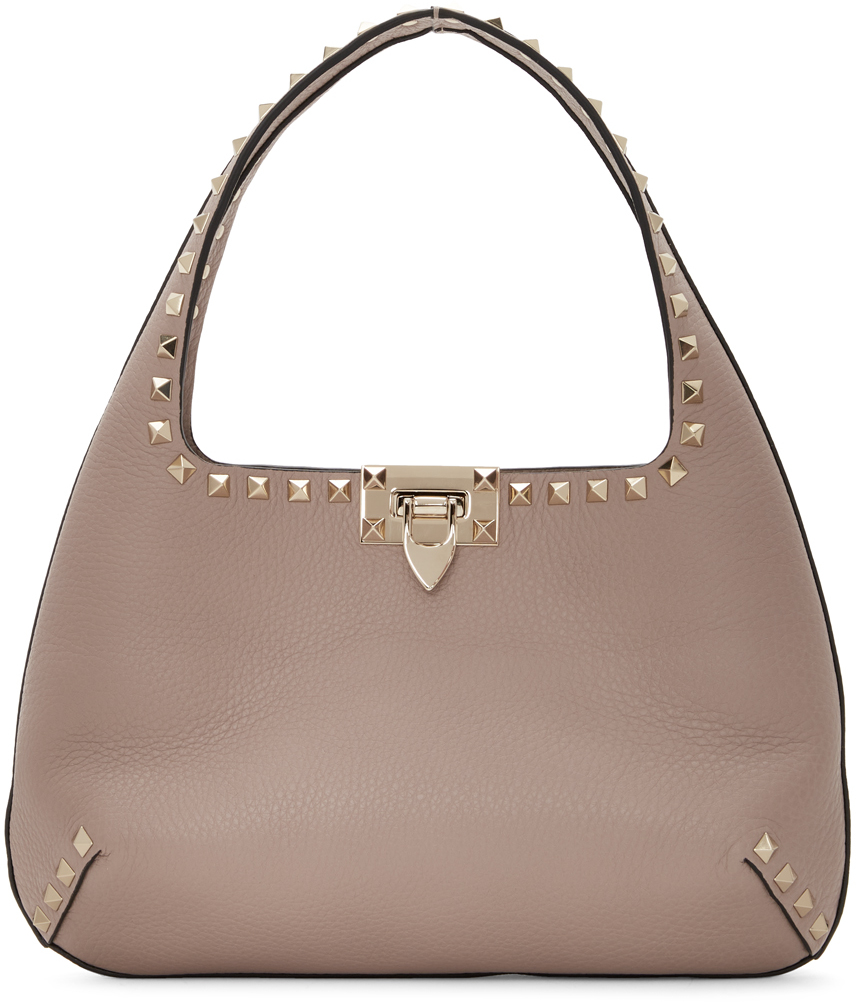 Valentino Garavani Pink Valentino Garavani Small Rockstud Shoulder Bag