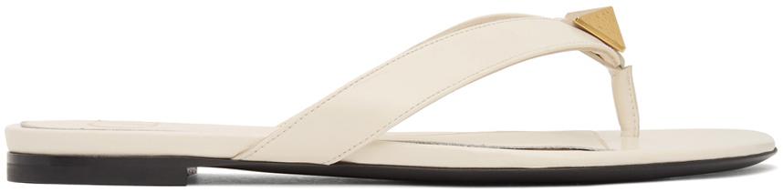 Valentino Garavani Off-White Roman Stud Sandals
