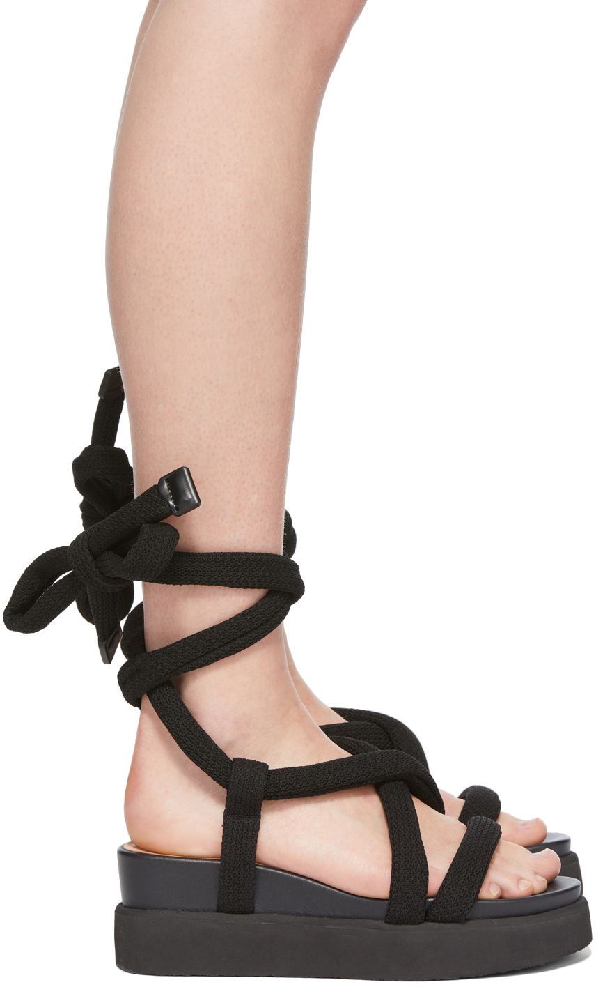 Black United Nude Edition Node Sandals