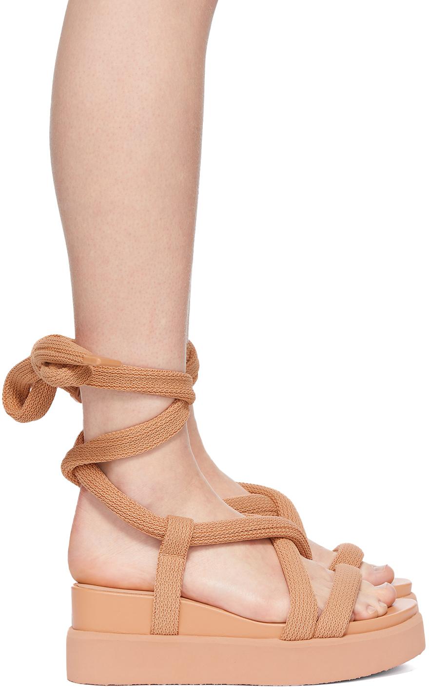 Beige United Nude Edition Node Sandals