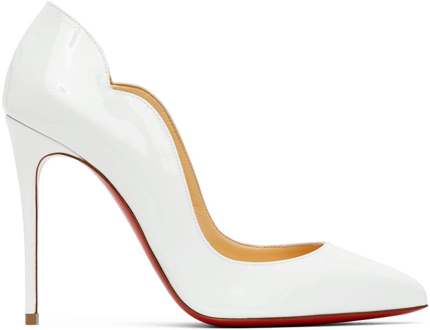 White Patent Hot Chick 100 Heels