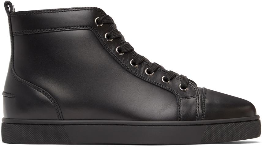 Black Louis High-Top Sneakers