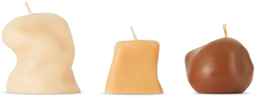 Tan Sole Candle Set