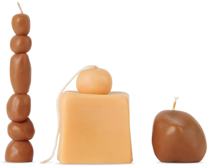SSENSE Exclusive Tan Soy Wax Candle Set