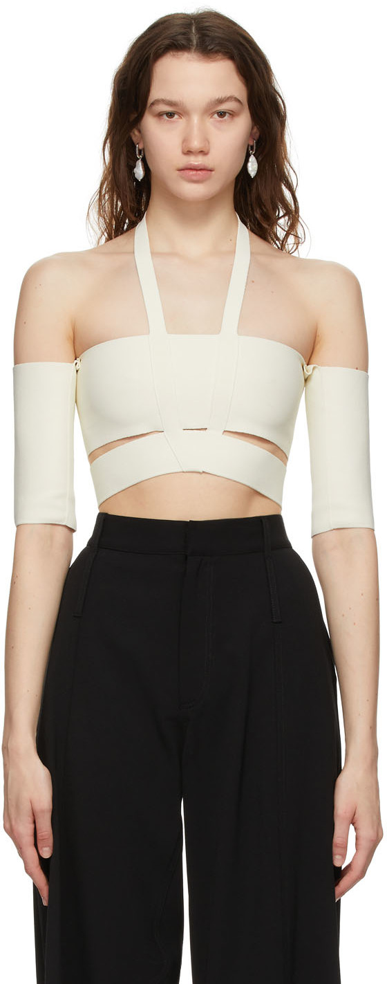 Off-White Off-The-Shoulder Tank Top