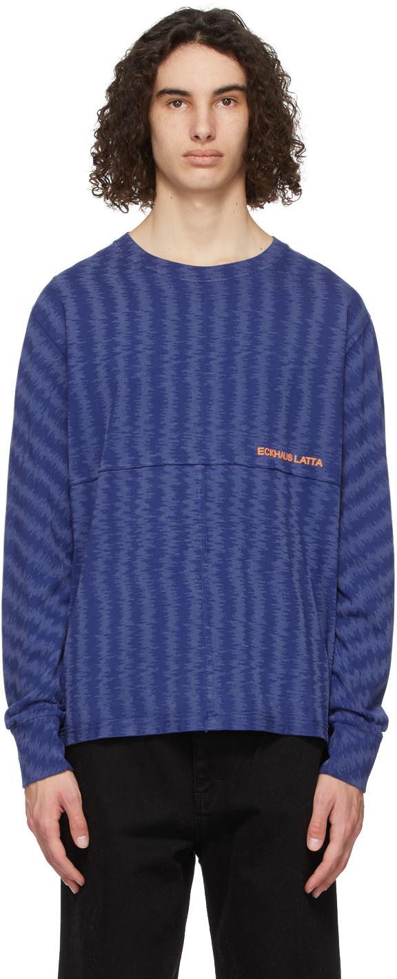 Eckhaus Latta 蓝色 Lapped 长袖 T 恤