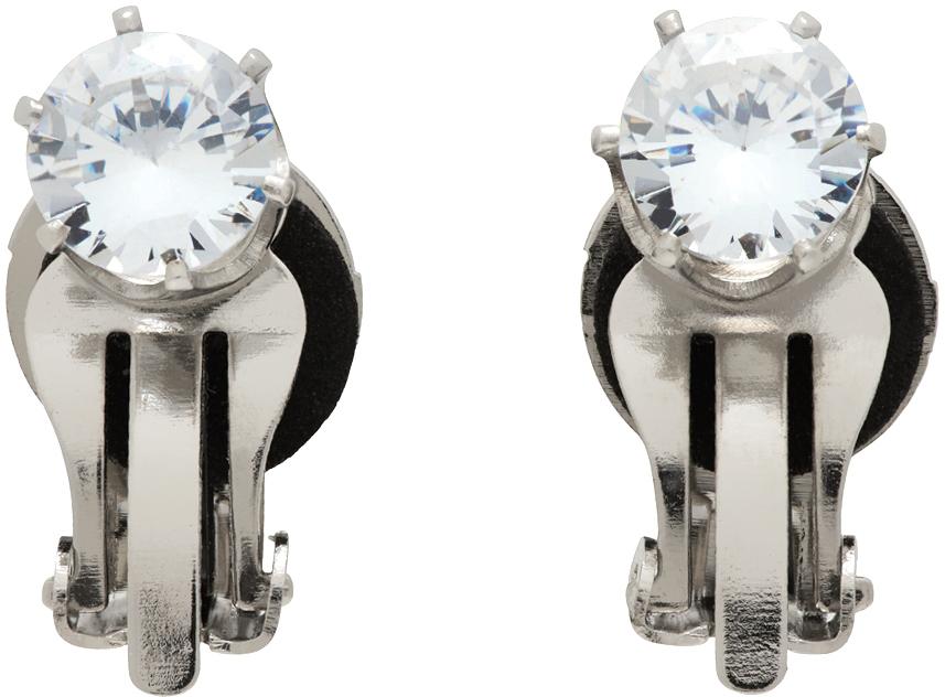 Silver N°08 Distraction Sparkler Earrings