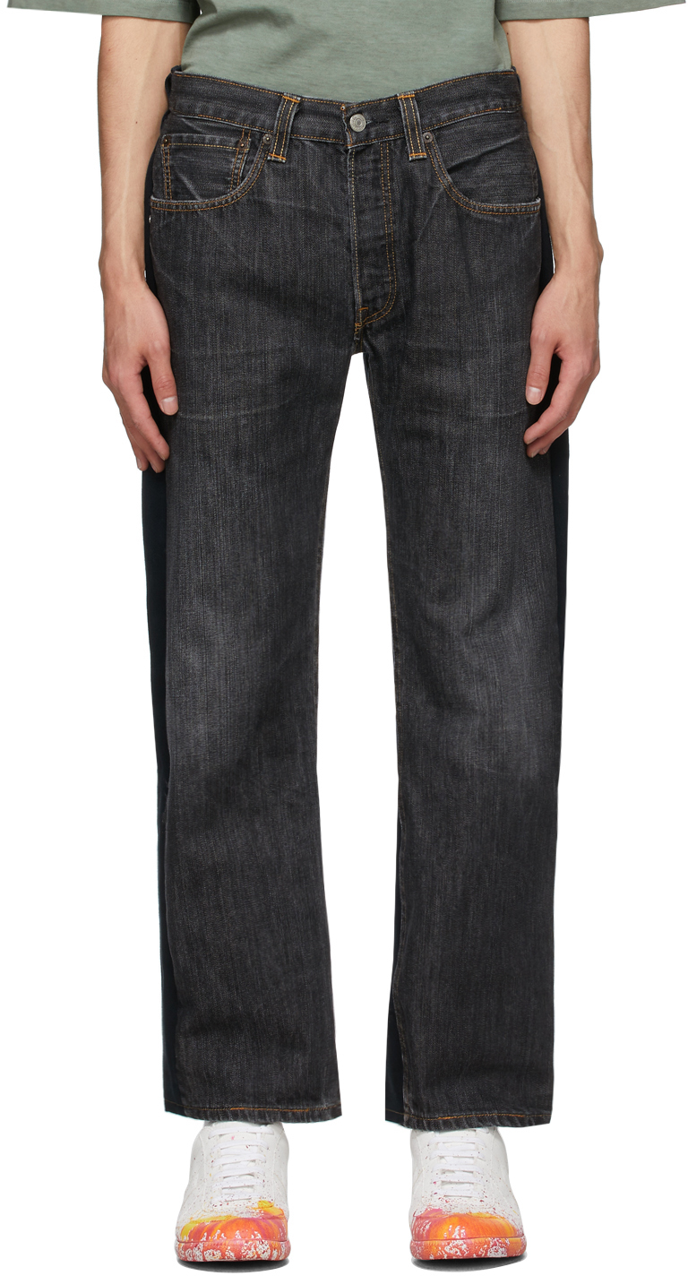 Two-Pack Black Nº69 Lost In Contemplation Variation Pleats Front Jeans