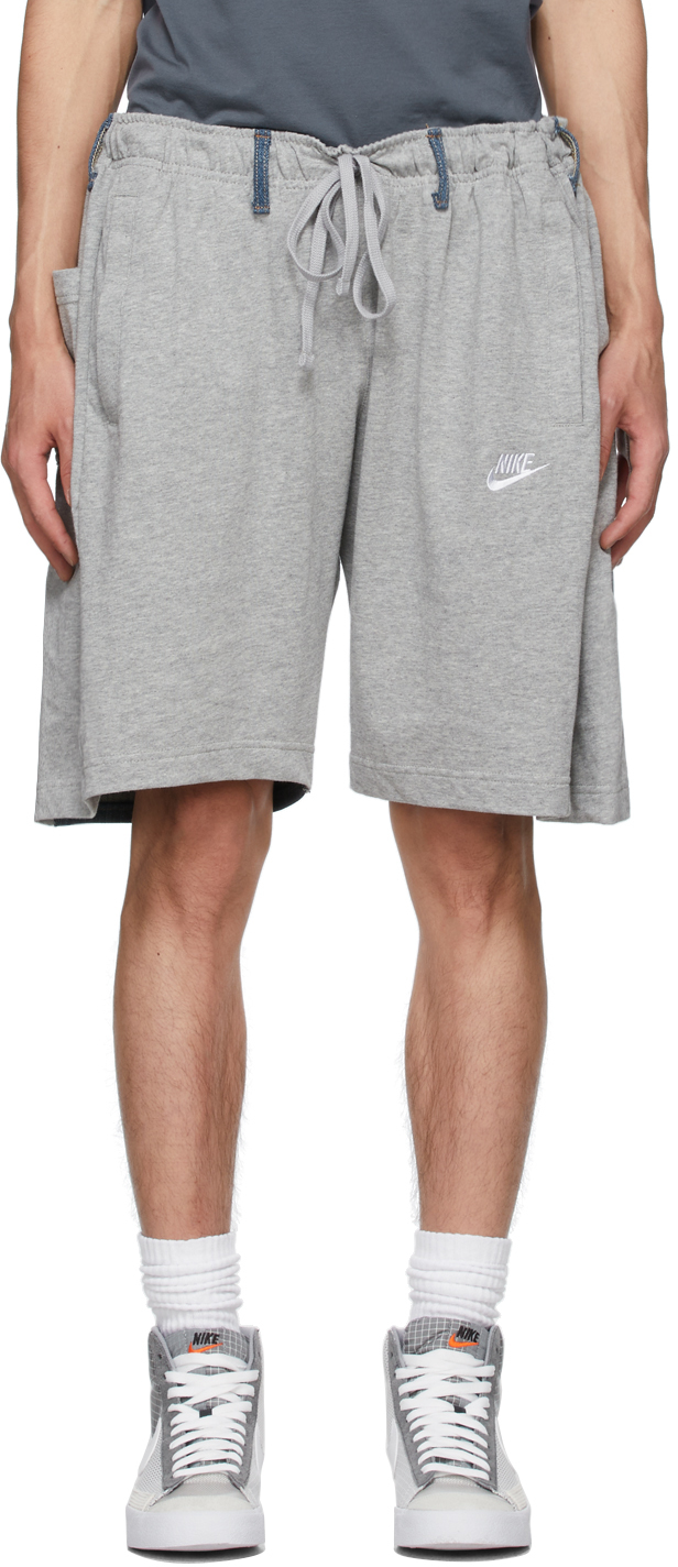 Grey & Blue Nº69 Lost In Contemplation Variation Overjogging Shorts