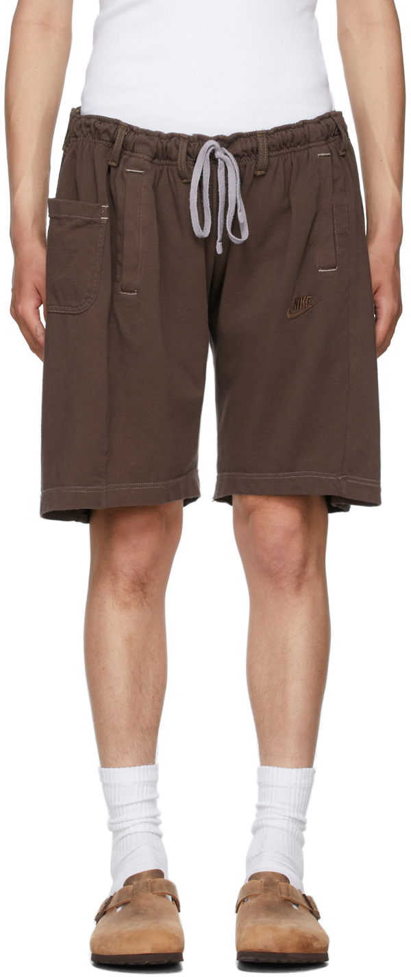 SSENSE Exclusive Brown Overjogging Shorts